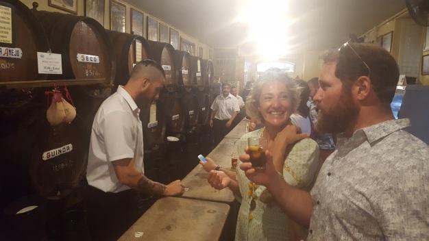 At the grappa bar