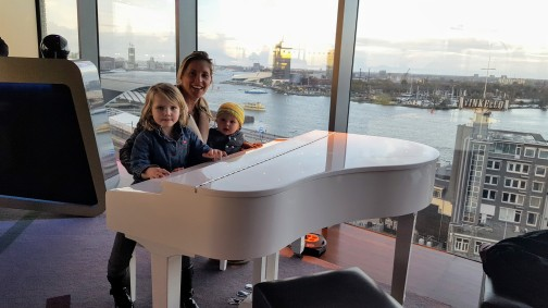 A baby grand for some grand babies: rooftop rockin' it