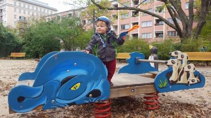 Finn navigating the parks of Berlin