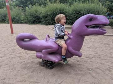 dinosaur riding