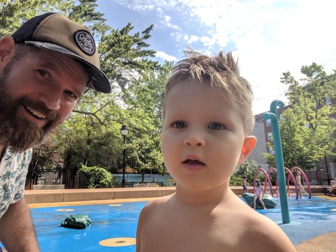 finn splashpad selfie witty